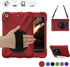BRAECN iPad Mini 1 2 3 Case, ipad Mini case Hybrid Full Body 3 Layer Armor Protective Shockproof iPad Case Cover with Hand Grip/a Shoulder Strap/Rotating Kickstand for Apple iPad Mini Case for Kids