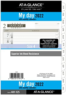 """$27 » 2022 Daily Planner Refill by AT-A-GLANCE, 12010 Day-Timer, 5-1/2"""" x 8-1/2"""", Size 4, Desk Size, One Page per Day, Loose-Lea..."""