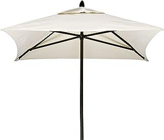 Telescope Casual Furniture Commercial Outdoor Market 6' Square Umbrella, Textured Desert Frame, White Fabric