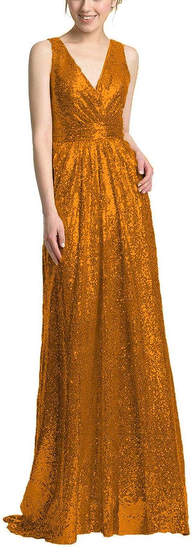 SDRESS Women's Straps VNeck VBack Sweep Train Sequins Prom Homecoming Dress