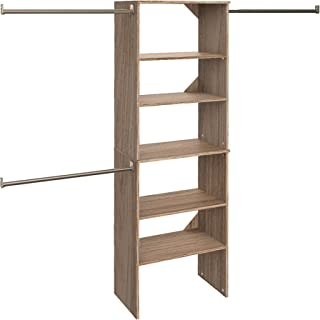 ClosetMaid 28882 SuiteSymphony 25-Inch Starter Tower Kit, Natural Gray