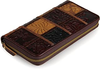 Women's Wallet Personalized Wallet Leather Women's Long Wallet (Color : Multi-Colored, Size : B-S)