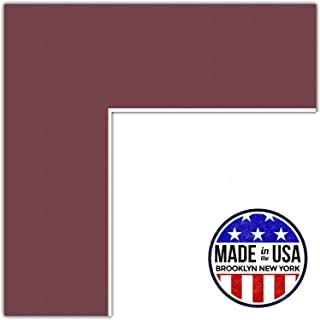 22x28 Merlot / Maple Leaf Custom Mat for Picture Frame with 18x24 opening size (Mat Only, Frame NOT Included)