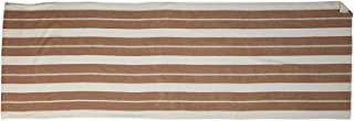 Summer Collection Striped Chaise Lounge Cover (Ivory/Khaki)
