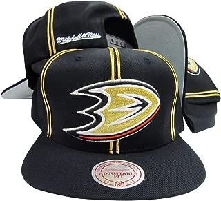 Anaheim Mighty Ducks Black/Gold Striped Adjustable Snapback Cap/Hat