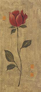 Oil Painting 'A Red Flower', 16 x 36 inch / 41 x 92 cm , on High Definition HD canvas prints is for Gifts And Bar, Garage And Nursery Decoration, where to buy