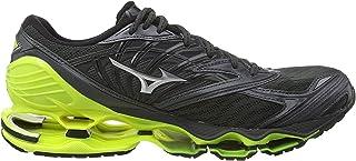 Wave Prophecy 8, Zapatillas de Running para Hombre, Negro Dark Shadow/Silver/Safety Yellow 05, 42.5 EU
