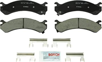 Bosch BC784 QuietCast Premium Ceramic Disc Brake Pad Set For Select Cadillac Escalade; Chevrolet Avalanche, Silverado, Express, Cargo, Suburban; GMC Savana, Sierra, Yukon; Hummer H2 + More; Front