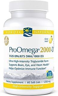 Nordic Naturals ProOmega 2000-D - Fish Oil, 1125 mg EPA, 875 mg DHA, 1000 IU Vitamin D3, Cardiovascular, Neurological, Eye...