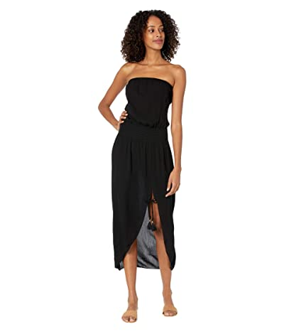 BECCA by Rebecca Virtue Ponza Crinkled Rayon Dress Cover-Up