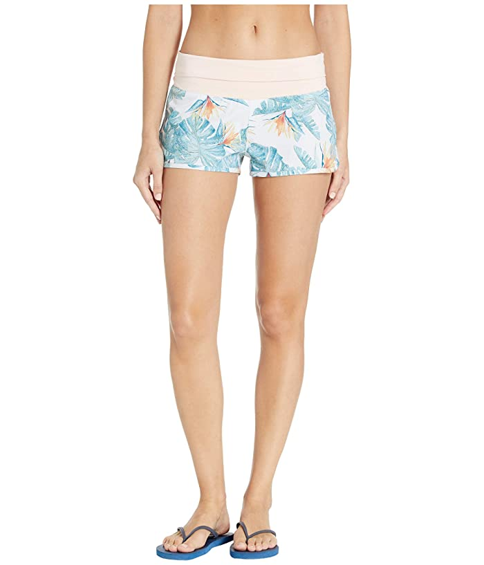 Roxy Endless Summer Printed Boardshorts (Bright White Midnight Paradise) Women