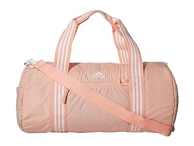 adidas Vfa Roll Duffel (Glow Pink/White) Duffel Bags