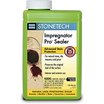 StoneTech Impregnator Pro, Heavy Duty Sealer for Natural Stone, 1-Quart (.946L)