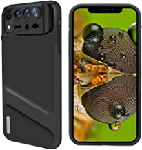 iPhone XR Lens, 3 in 1 Phone Camera Lens Kit [ 180 Degree Fisheye, 0.65X Super Wide Angle, 10X Macro Lens ] with Phone Protective Case Cover for Apple iPhone XR
