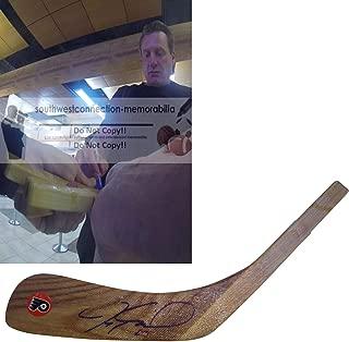 Jeremy Roenick Philadelphia Flyers Autographed Hand Signed Logo Hockey Stick Blade with Exact Proof Photo of Signing, COA