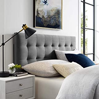Modway Lily King Biscuit Tufted Performance Velvet Headboard, Gray