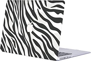 MacBook Air 13 Inch Case 2020 2019 2018 Release A2179/A1932, AQYLQ Plastic Hard Shell Protective Cover for Newest MacBook Air Retina 13 Inch with Touch ID, BW-835 Zebra Stripe