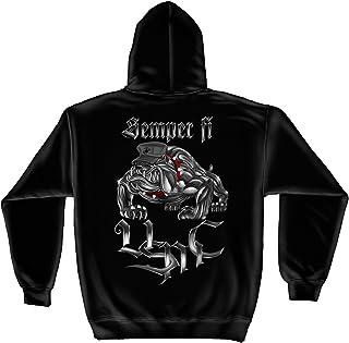 Erazor Bits Marine Corps Hooded Sweat Shirt Sempri Fi Chrome Dog Marine Corps AL231SW