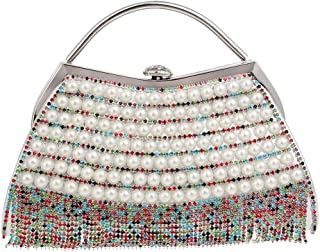 Handbag - Women's Luxury Rhinestone Tassel Evening Bag, Suitable for Weddings, Parties, Dating, Shopping, Perfect Gift (Color : Multi-Colored)