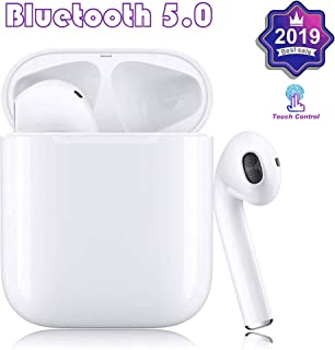 Bluetooth Headphones, Bluetooth 5.0 Wireless Earbuds with【24Hrs Charging Case】IPX5 Waterproof 3D Stereo in-Ear Ear Buds Built-in Mic, Pop-ups Auto Pairing for Apple Airpods Android/IPhone Samsung