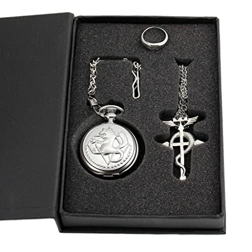 Fullmetal Alchemist Brotherhood Flamel Snake Cross Necklace Cosplay Edward Elric