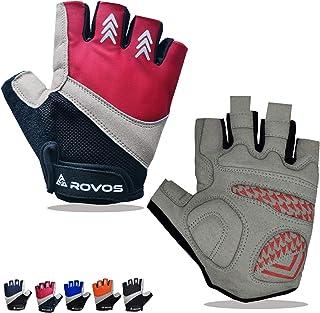 ROVOS Bike Gloves Men/Women Cycling Gloves Bicycle Gloves Bicycling Gloves Half Finger Breathable...