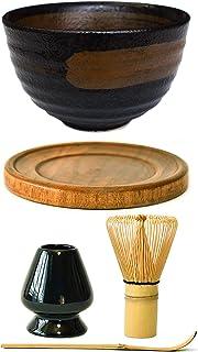 Ceramic Matcha Bowl Whisk Set Black