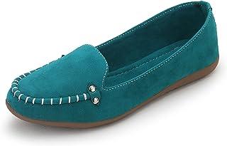 MYRA Women's Velvet Loafer Shoes - MS1196C