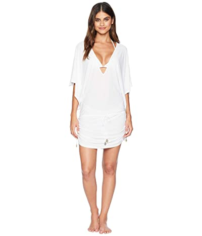 Luli Fama Cosita Buena Cabana V-Neck Dress Cover-Up (White) Women