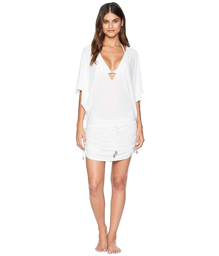Luli Fama Cosita Buena Cabana V-Neck Dress Cover-Up (White) Women