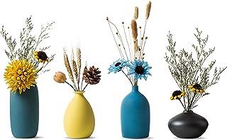 Sziqiqi Kleine Keramische Vazen voor Bloemen Decoratieve Vaasset voor Woonkamer Mini Handgemaakte Matte Vazen voor Tafelde...