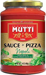 Sauces for Pizza - Napoli (Fresh Basil & Extra Virgin Olive Oil) 14 oz, Pack of 6