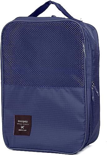 Portable Two Layer Waterproof Travelling Shoe Storage Bag Footwear Organiser Pouch