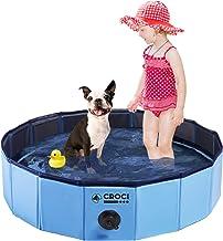 Croci Foldable Dog Pool Kiddie Pool, Portable PVC Hard Plastic Pool Various Diameter Puppy Pool, Perfect Backyard Water Pl...