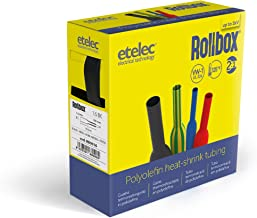 Etelec TUBOX001 Kit Box 170 gaines thermor/étractables isolantes Barres de 10 cm C/âble isolant /électrique 6 mesures