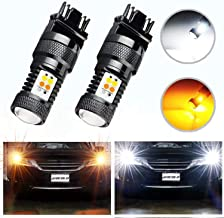 HOCOLO Extremely Bright 3030 Chipsets White/Yellow 3157 3155 3457 4157 Switchback LED Bulbs with Projector For Turn Signal Lights(Brightest Switchback bulb on the market)