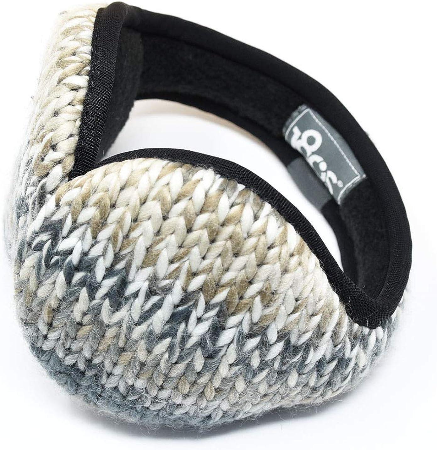 180s Kids' Tec Fleece Ear Warmer Adjustable Fully Collapsible Insulated Earmuffs, Black Multi, Size