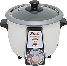 Cuiseur à riz avec tahdig, gâteau de riz, fonction tadig pour 2 à 3 personnes, maintien au chaud, 0,6 l, 300 W, croûte à riz.