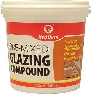 Red Devil 0664 1-Quart Pre-Mixed Glazing Compound, White