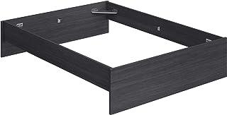 Marca Amazon -Movian Kolva Modern - Base para cama de matrimonio con cabecero bajo y pie de cama, 144,5 x 194,5 x 31,7 cm (gris)