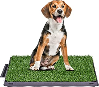 Giantex Dog Puppy Pet Potty Pad Home Training Toilet Pad Grass Surface Portable Dog Mat Turf Patch Bathroom Indoor Outdoor