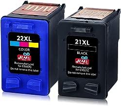JIMIGO 21XL 22XL Cartuchos de Tinta Remanufacturado HP 21 22 Cartuchos de Tinta Compatible con HP PSC 1410, HP Deskjet F4180 F2280 F380 F2180 D2460 D2360 D1460 3940 (1 Negro, 1 Tricolor)