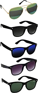 Silver Kartz Latest Gift Pack of UV 400 Protection Sunglasses for Men Women Girls Boys Stylish Unisex Pack of 5 ||aio5||