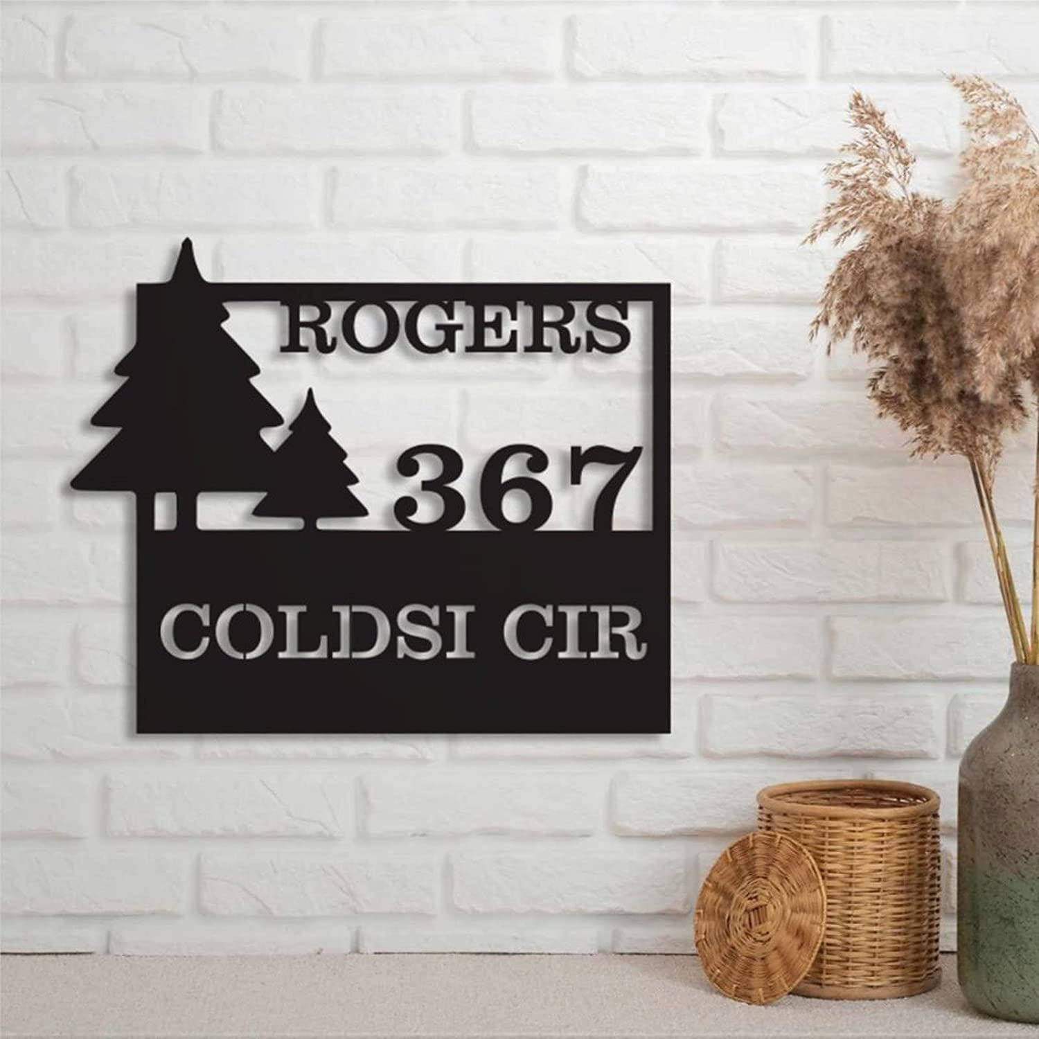 Personalized Wall Decor Monogram Wilderness Limited price Establi Sign Address A surprise price is realized