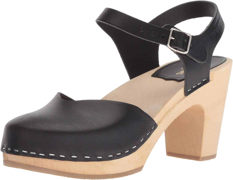 Swedish hasbeens Womens Covered Super High Heeled Sandal