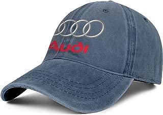 Audi-Logo- Unisex Washed Golf Cap Adjustable Snapback Beach Hat