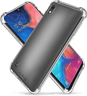 samsung A10 (2019) Case, Slim Thin Anti-Scratch Clear Flexible TPU Silicone with Four Corner Bumper Protective Case Cover ...