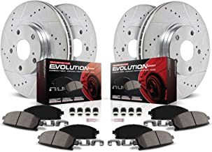 Power Stop K6966 Front & Rear Brake Kit with Drilled/Slotted Brake Rotors and Z23 Evolution Ceramic Brake Pads