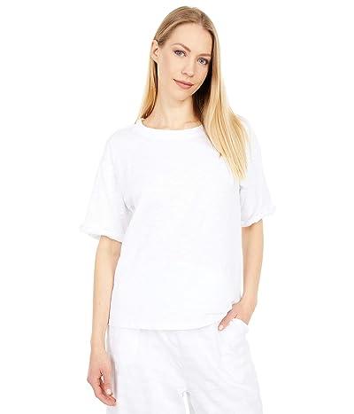 Mod-o-doc New Slub Jersey Roll-Up Sleeve Embroidered Tee
