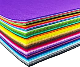 flic-flac 44PCS 8 x 12 inches (20 x 30cm) Assorted Color Felt Fabric Sheets Patchwork Sewing DIY Craft 1mm Thick … (20cm 3...